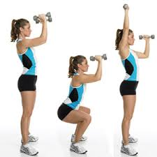 resistance training Squat to Overhead Press