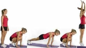 .functional fitness Burpee to Squat Jump