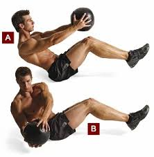 .functional fitness Torso rotation with medicine ball