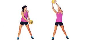 functional fitness diagonal reach miedicine ball
