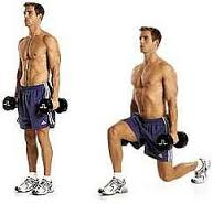 circuit training Alternating lunges.