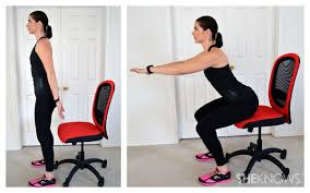 office workouts chair squat